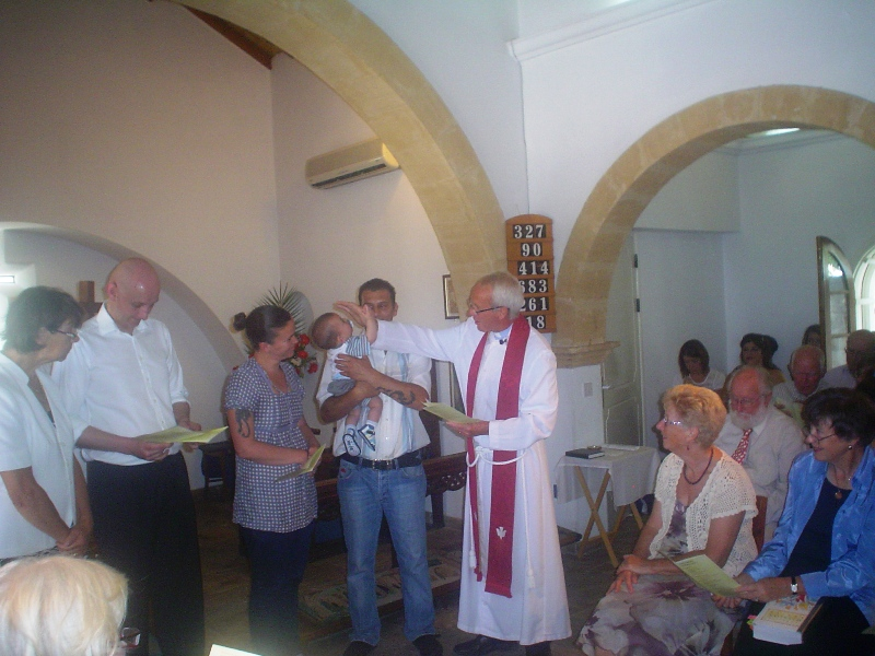 Shawn's Baptism at St Andrew's in Kyrenia - May 2012