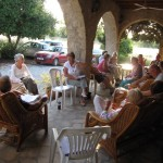 House group meeting in the Hermitage Garden at St Andrew's, Kyrenia, Cyprus